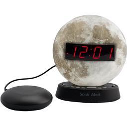 Sonic Glow SBW100MOSS Moonlight Alarm Clock with Bed Shaker