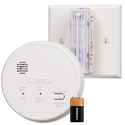 Gentex GN-503F Hard Wired T3 Smoke / T4 Carbon Monoxide Photoelectric Alarm with Wall Strobe