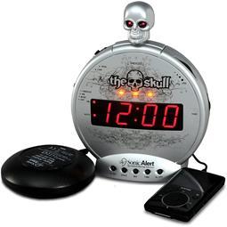 "Sonic Alert Sonic Boom SBS500BC ""The Skull"" Vibrating Alarm Clock"