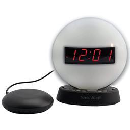 Sonic Glow SBW100NLSS Nightlight Alarm Clock with Bed Shaker