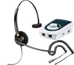 Serene Innovations UA-50 Business Phone Amplifier with Plantronics HW510 Headset