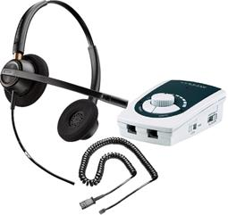 Serene Innovations UA-50 Business Phone Amplifier with Plantronics HW520 Headset