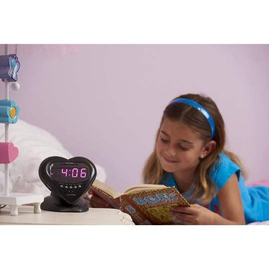 Sonic Alert Sonic Boom SBH400ss Sweetheart Vibrating Alarm Clock in Metallic Black