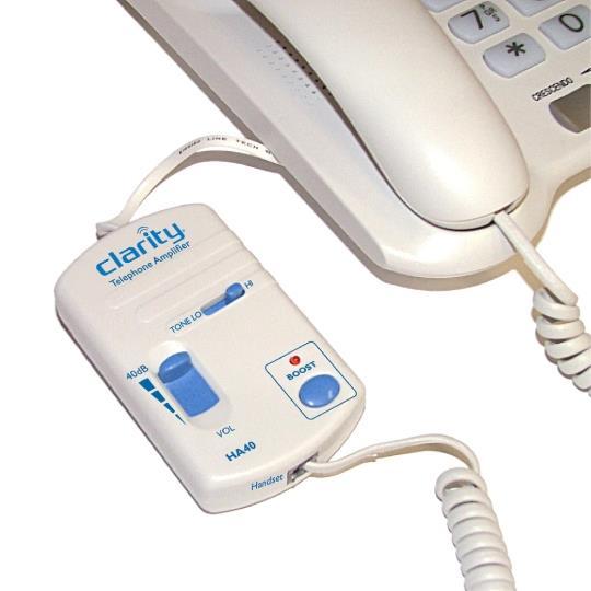 HA40 In-Line Telephone Amplifier by Clarity