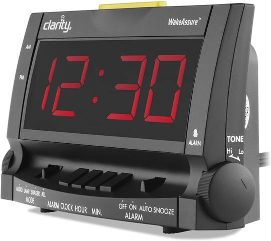 Wake Assure Vibrating Alarm Clock by Clarity