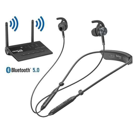 BeHear Now Personal Bundle: HearLink PLUS TV-Transmitter & BeHear Assistive-Listening Headset