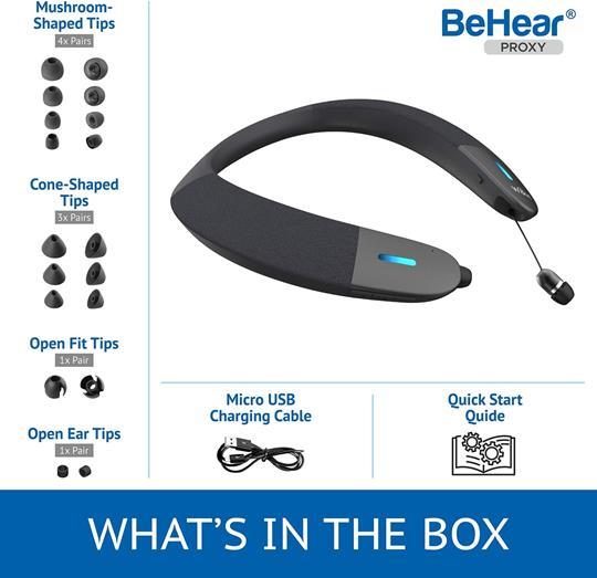 BeHear PROXY Bluetooth Neck Speaker + Transmitter (Bundle)