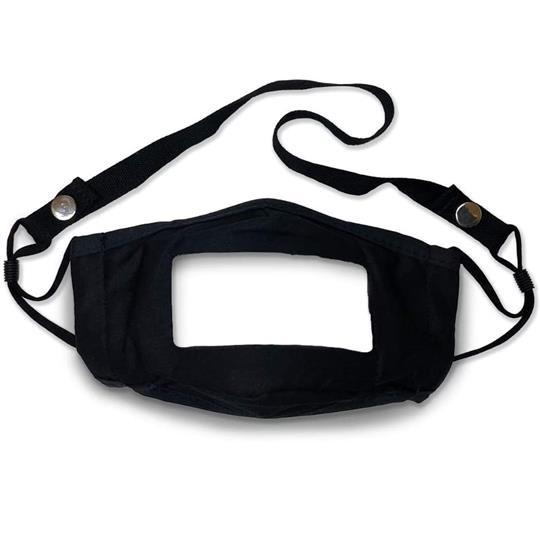 Mist Away Communication Mask with Clear, Anti-fog Window – 3 pack (Black, Blue, Tan)
