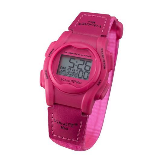 Global VibraLITE MINI Vibrating Watch with Neon Pink Band