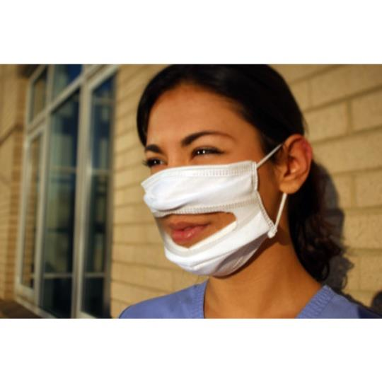 Communicator Surgical Mask with Clear Window   40 pack