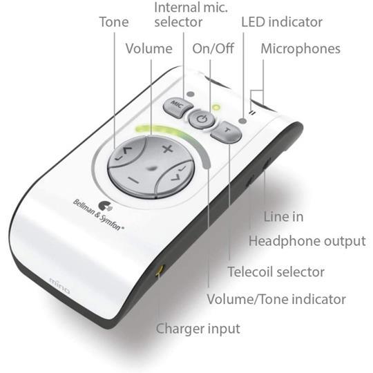 Bellman & Symfon Mino Personal Amplifier with Earphone