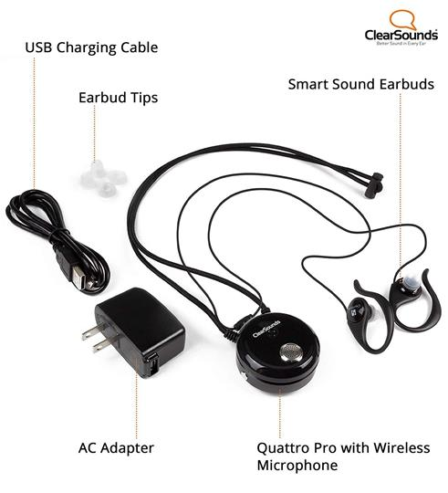 Clearsounds Quattro 4.0 Pro Neckloop with Detachable Wireless Microphone