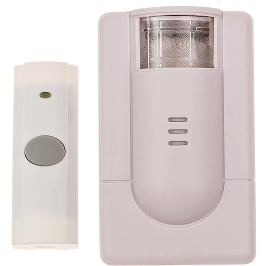 WP180USL Wireless Doorbell with Flashing Strobe and Push Button