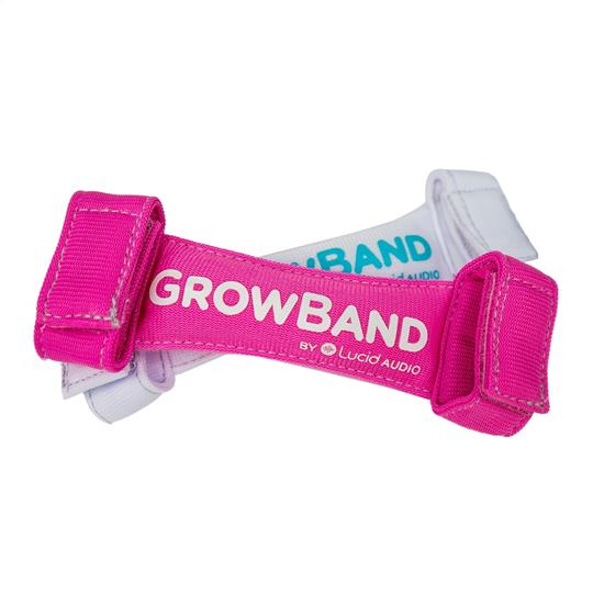 Lucid Audio Baby GrowBand | 2pk | Pink & White