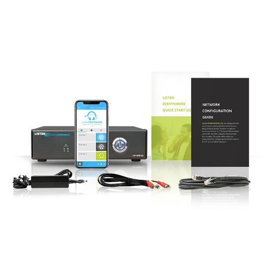 Listentech Audio Everywhere Two Channel Server - Assistive Listening for Smart Phones