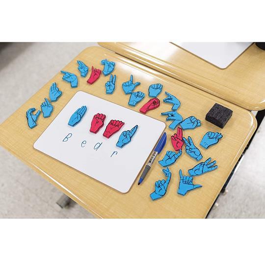 Wonderfoam Magnetic Sign Language Letters