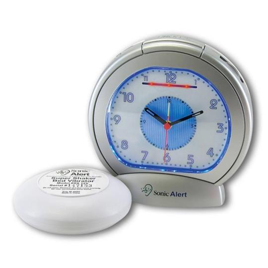 Sonic Alert Sonic Boom SBA475ss Vibrating Analog Alarm Clock