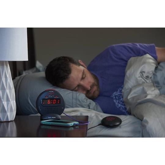 Sonic Alert Sonic Bomb Jr SBJ525SS Vibrating Alarm Clock