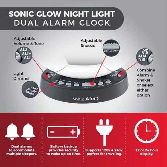 Sonic Glow SBW100SB Soccer Ball Alarm Clock