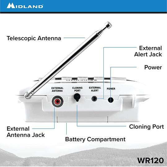 Midland WR120 NOAA Weather Alert Radio