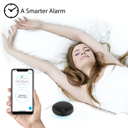 iLuv SmartShaker3 Vibration Bed Shaker Bluetooth Alarm Clock | Black