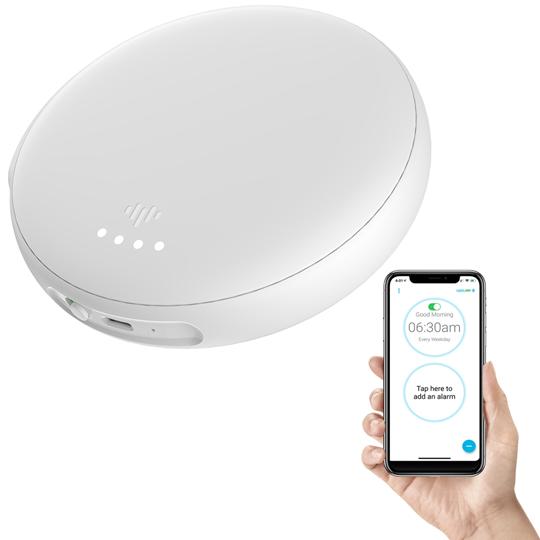 iLuv SmartShaker3 Vibration Bed Shaker Bluetooth Alarm Clock | White
