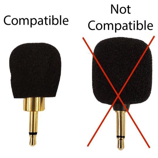 Williams Sound Plug Mount Microphone Windscreen
